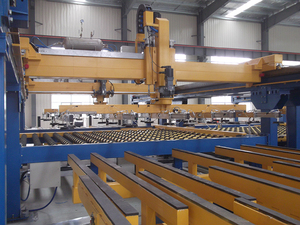 Horizontal stacker machine